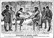 George du Maurier carton on the revival of Mesmerism. From 'Punch', London, 4 December 1883.