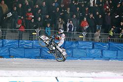 13.03.2016, Assen, BEL, FIM Eisspeedway Gladiators, Assen, im Bild Wheely von Franz Zorn (AUT) // during the Astana Expo FIM Ice Speedway Gladiators World Championship in Assen, Belgium on 2016/03/13. EXPA Pictures &copy; 2016, PhotoCredit: EXPA/ Eibner-Pressefoto/ Stiefel<br /> <br /> *****ATTENTION - OUT of GER*****