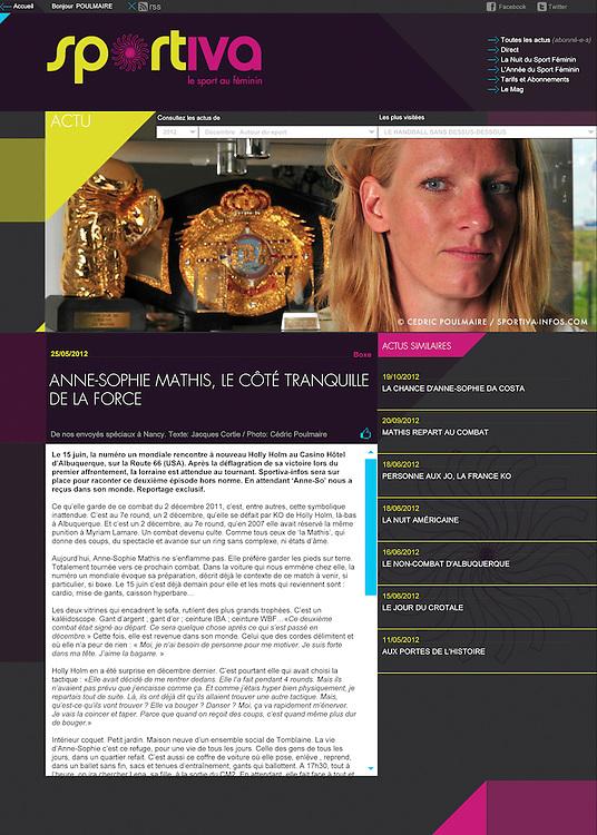 Anne-Sophie Mathis dans Sportiva-Infos.com.