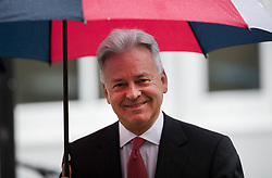 © Licensed to London News Pictures. 24/04/2017. London, UK. Alan Duncan MP leaves Conservative party headquarters in London. The Prime Minister posed for portraits with individual Conservative candidates at headquarters today ahead of general election which is due to take place on June 8th. Photo credit: Peter Macdiarmid/LNP