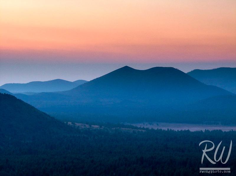 Dawn Sunrise over Sunset Crater Volcano, Coconino National Forest, Arizona