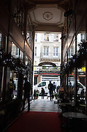 France, Paris. Historical Covered passages of Paris. Passage du grand cerf