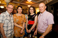 "19/7/2011. Frank and Mary Grealish Kilcolgan with Christine and Alan Moran from Galway city  in McSwiggans for the pre show reception of Propellors ""Comedy of Errors"" by Shakspeare in the Galway Arts Festival, sponsored by Ulster Bank. Photo:Andrew Downes"