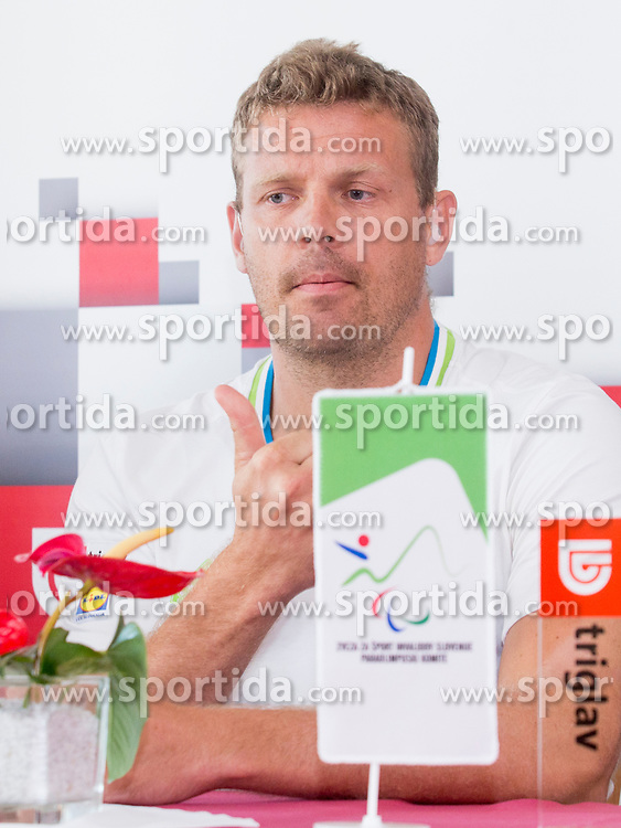 Miha Zupan at reception of Slovenia team arrived from 23rd Deaflympics Games Samsun 2017 on July 31, 2017 at Airport Joze Pucnik, Brnik, Slovenia. Photo by Urban Urbanc / Sportida