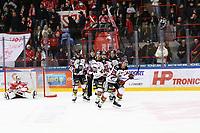 2020-03-06   Ljungby, Sverige: Bodens HF (28) Marcus Sandström har precis gjort 0-2 under matchen i Hockeyettan mellan IF Troja/Ljungby och Bodens HF i Ljungby Arena ( Foto av: Fredrik Sten   Swe Press Photo )<br /> <br /> Nyckelord: Ljungby, Ishockey, Hockeyettan, Ljungby Arena, IF Troja/Ljungby, Bodens HF, fstb200306, playoff, kval