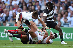 Marcus Smith of the England XV looks to reach the try-line - Mandatory byline: Patrick Khachfe/JMP - 07966 386802 - 02/06/2019 - RUGBY UNION - Twickenham Stadium - London, England - England XV v Barbarians - Quilter Cup International