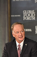 Jim Perdue, Chairman, Perdue Farms Inc., at The Wall Street Journal 2016 GLOBAL FOOD FORUM in New York City on October 6, 2016. (photo by Gabe Palacio)