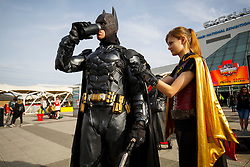 © Licensed to London News Pictures. 25/10/2015. London, UK. Cosplayers attending the MCM London Comic Con at ExCeL Convention Centre on Sunday, 25 October 2015. Photo credit: Tolga Akmen/LNP