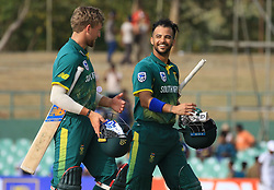 July 28, 2018 - Dambulla, Sri Lanka - South African cricketer ..Jean-Paul Duminy walks back after winning the match during the 1st One Day International cricket match between Sri Lanka and South Africa at Rangiri Dambulla International Stadium, Dambulla, Sri Lanka on Sunday 29 July 2018  (Credit Image: © Tharaka Basnayaka/NurPhoto via ZUMA Press)