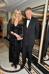 JODIE KIDD and her father JOHNNIE KIDD at the 26th Cartier Racing Awards held at The Dorchester, Park Lane, London on 8th November 2016.