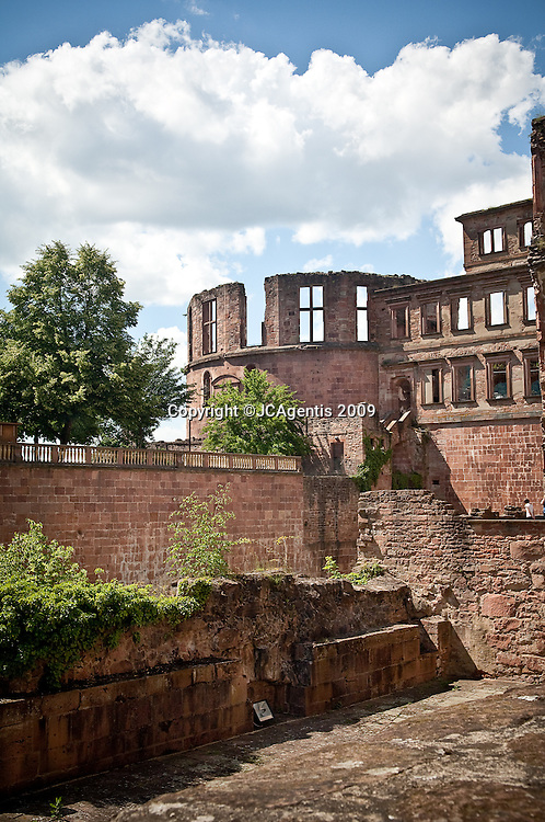 Entrance to the Heidelberg Castle in Heidelberg Germany