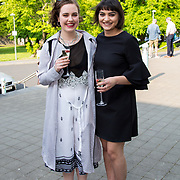 11.05. 2017.                                                 <br /> Over 20 leading Irish and international fashion media and influencers converged on Limerick for 24 hours on, Thursday, 11th May for a showcase of Limerick's fashion industry, culminating with Limerick School of Art & Design, LIT, presenting the LSAD 360° Fashion Show, sponsored by AIB.<br /> Pictured at the event were, Roisin Keating, Knocknacarra Co. Galway and Roisin McCabe, Clones Co. Monaghan. Picture: Alan Place