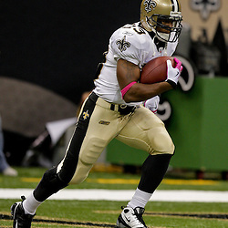 2009 October 04: New Orleans Saints running back Pierre Thomas (23) in warm ups prior to kickoff of a 24-10 win by the New Orleans Saints over the New York Jets at the Louisiana Superdome in New Orleans, Louisiana.