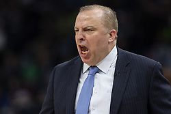 April 23, 2018 - Minneapolis, MN, USA - Minnesota Timberwolves head coach Tom Thibodeau in the third quarter as they play the Houston Rockets in Game 4 of their series Monday, April 23, 2018 at the Target Center in Minneapolis, Minn. The Rockets won, (Credit Image: © Carlos Gonzalez/TNS via ZUMA Wire)