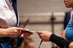 09–01-2020 NED: Olympic qualification tournament women, Apeldoorn<br /> Croatia - Belgium / item, injured, Fysio