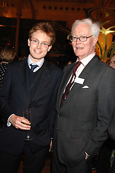 The HON.EDWARD HURD and his father LORD HURD at the Orion Authors Party held at the Royal Opera House, Covent Garden, London on 11th February 2008.<br />