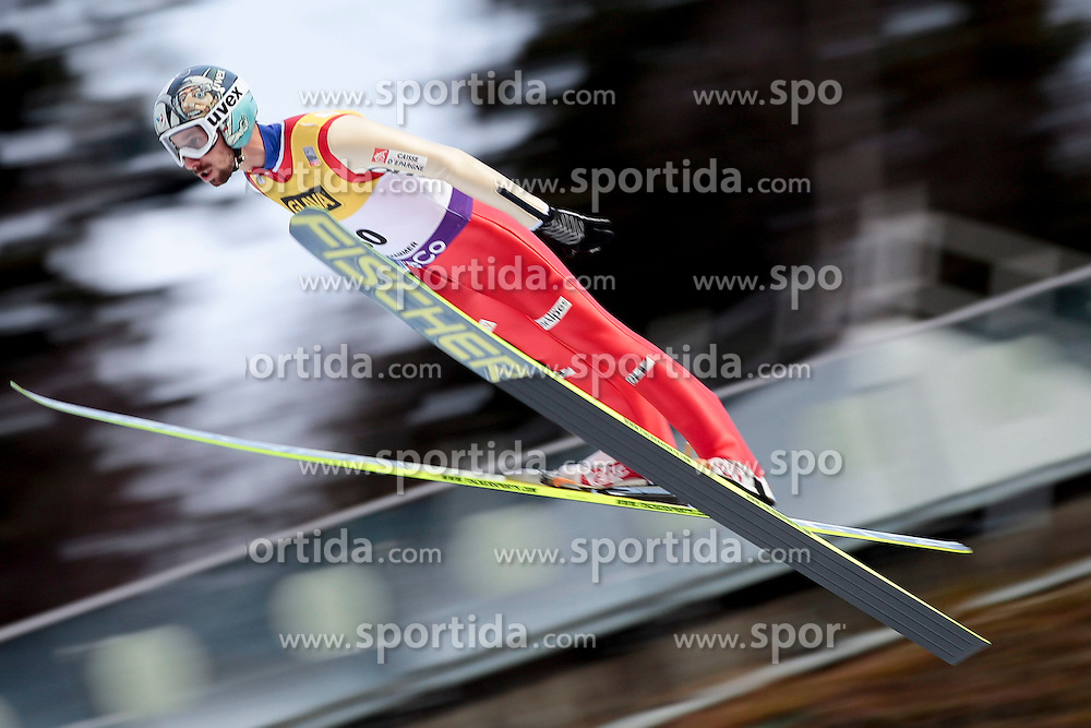 24.11.2012, Lysgards Schanze, Lillehammer, NOR, FIS Nordische Kombination Weltcup, Springen, im Bild Laheurte Maxime (FRA) during Ski Jumping of FIS Nordic Combined Worldcup at the Lysgardsbakkene Ski Jumping Arena, Lillehammer, Norway on 2012/11/24. EXPA Pictures © 2012, PhotoCredit: EXPA/ Federico Modica