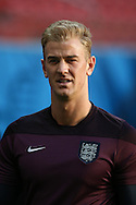 Joe Hart looks on during the England open training session at Arena da Amazonia, Manaus, Brazil. <br /> Picture by Andrew Tobin/Focus Images Ltd +44 7710 761829<br /> 13/06/2014