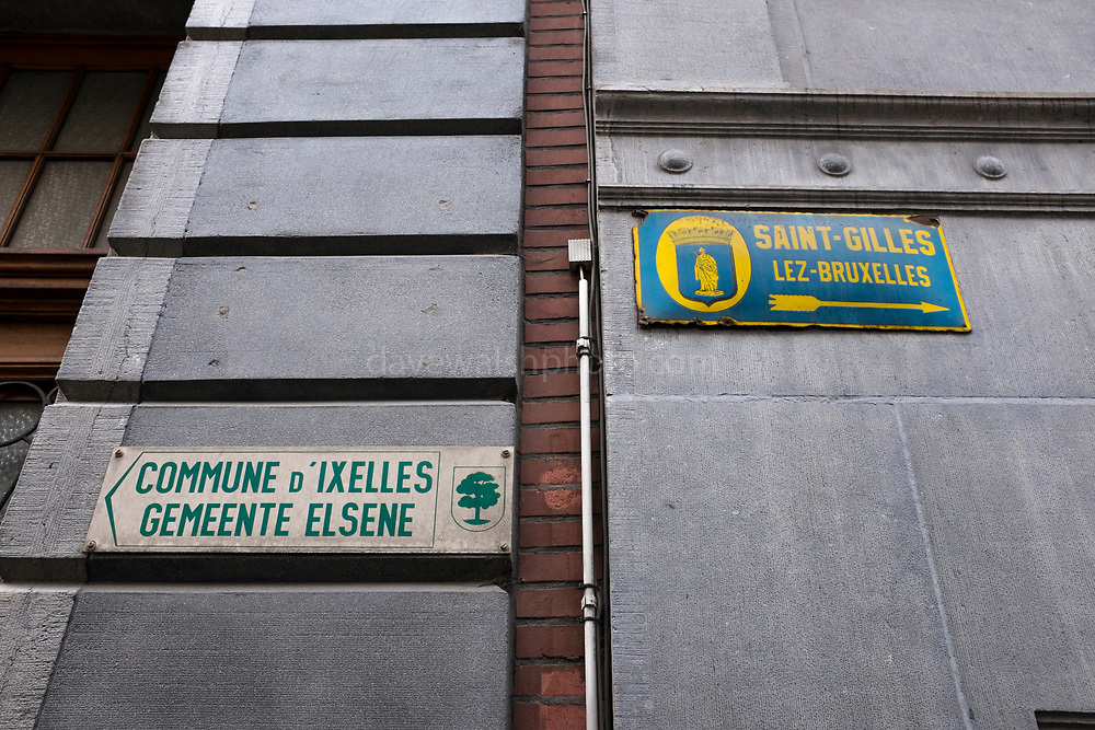 Brussels: Ixelles and Saint Gilles - one street in two municipalities. Rue Veydt, Bruxelles.