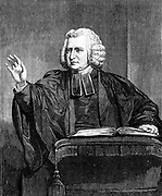 Charles Wesley (1707-88) English preacher and hymn writer. Brother of John Wesley (1703-1791). Among the more than 5,500 hymns he wrote were 'Jesu, Lover of my soul' ' Love divine, all loves excelling' and 'Hark, the Herald Angels sing'. Wood engraving.