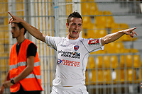 FOOTBALL - FRENCH CHAMPIONSHIP 2011/2012 - AC ARLES v CLERMONT FOOT  - 16/09/2011 - PHOTO PHILIPPE LAURENSON / DPPI - ROMAIN ARMAND JOY AFTER GOAL (CLE)