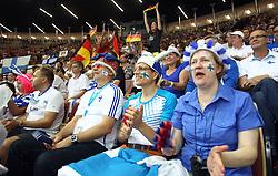 06.09.2014, Spodek, Katowice, POL, FIVT WM, Finnland vs Deutschland, Gruppe B, im Bild KIBICE FINLANDIA FANI // during the FIVB Volleyball Men's World Championships Pool B Match beween Finland and Germany at the Spodek in Katowice, Poland on 2014/09/06.<br /> <br /> ***NETHERLANDS ONLY***