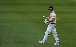 Dejection for Middlesex's Nick Compton after being dismissed. - Photo mandatory by-line: Harry Trump/JMP - Mobile: 07966 386802 - 29/04/15 - SPORT - CRICKET - LVCC Division One - County Championship - Somerset v Middlesex - Day 4 - The County Ground, Taunton, England.