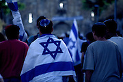 Celebrating Yom Yerushalayim (Jerusalem Day), Old City, Jerusalem, Israel