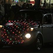 A car participates in the 12th Annual Wilmington Holiday Parade Sunday December 7, 2014 in Wilmington, N.C. (Jason A. Frizzelle)
