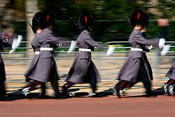 UK ENGLAND LONDON 15MAR07 - Buckingham Palace guards wearing uniform march down The Mall in central London. ..jre/Photo by Jiri Rezac..© Jiri Rezac 2007..Contact: +44 (0) 7050 110 417.Mobile:  +44 (0) 7801 337 683.Office:  +44 (0) 20 8968 9635..Email:   jiri@jirirezac.com.Web:    www.jirirezac.com..© All images Jiri Rezac 2007 - All rights reserved.