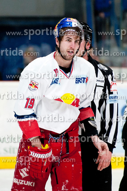 13.02.2015, Ice Rink, Znojmo, CZE, EBEL, HC Orli Znojmo vs EC Red Bull Salzburg, Platzierungsrunde, im Bild Kyle Beach (EC Red Bull Salzburg ) // during the Erste Bank Icehockey League placement round match between HC Orli Znojmo and EC Red Bull Salzburg at the Ice Rink in Znojmo, Czech Republic on 2015/02/13. EXPA Pictures © 2015, PhotoCredit: EXPA/ Rostislav Pfeffer