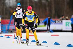 KLUG Clara Guide: HAERTL Martin Waidemar, GER at the 2014 IPC Nordic Skiing World Cup Finals - Sprint