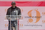 """Brad Pitt's $12 million """"Make It Right"""" project: a vast public art display serves as a fundraiser to expand the project beyond its initial goal to build 150 homes; client: NeighborWorks America"""