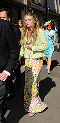 CRESSIDA BONAS at the wedding of Lady Natasha Rufus Isaacs to Rupert Finch held at St.John The Baptist Church, Cirencester, Gloucestershire, UK on 8th June 2013.