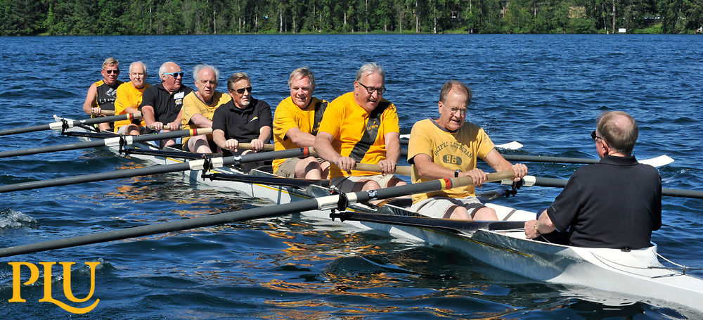 PLU's rowing crews reunion at American Lake.   Photos by Russ Carmack