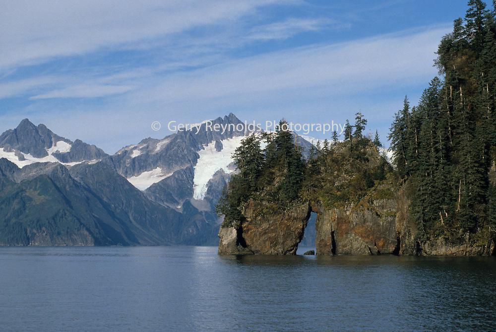 Resurrection Bay, Ocean, Mountains, Kenai Fjords National Park, Seward, Alaska