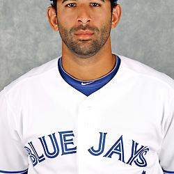 March 2, 2012; Dunedin, FL, USA; Toronto Blue Jays right fielder Jose Bautista (19) poses for a portrait during photo day at Florida Auto Exchange Stadium.  Mandatory Credit: Derick E. Hingle-US PRESSWIRE