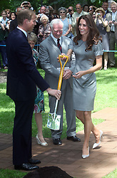 Catherine,  Duchess of Cambridge at a tree planting ceremony in Ottawa, Canada, Friday, July 1st  2011.  Photo by: Stephen Lock / i-Images