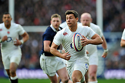 Ben Youngs of England in attack - Photo mandatory by-line: Patrick Khachfe/JMP - Mobile: 07966 386802 14/03/2015 - SPORT - RUGBY UNION - London - Twickenham Stadium - England v Scotland - Six Nations Championship