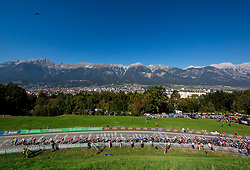 Peloton during the Men Elite Road Race at 258.5km Race from Kufstein to Innsbruck 582m at the 91st UCI Road World Championships 2018 / RR / RWC / on September 30, 2018 in Innsbruck, Austria. Photo by Vid Ponikvar / Sportida