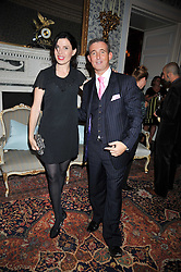 Ronni Ancona and TIM GOSLING at a party to celebrate the publication of Gosling - Classic Design for Contemporary Interiors by Tim Gosling held at William Kent House, The Ritz Hotel, London on 1st October 2009.