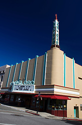 The Del Oro Theatre, an art deco landmark built in 1940 by United Artists, Mill Street, Grass Valley, California, United States of America