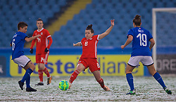 CESENA, ITALY - Tuesday, January 22, 2019: Wales' Angharad James during the International Friendly between Italy and Wales at the Stadio Dino Manuzzi. (Pic by David Rawcliffe/Propaganda)