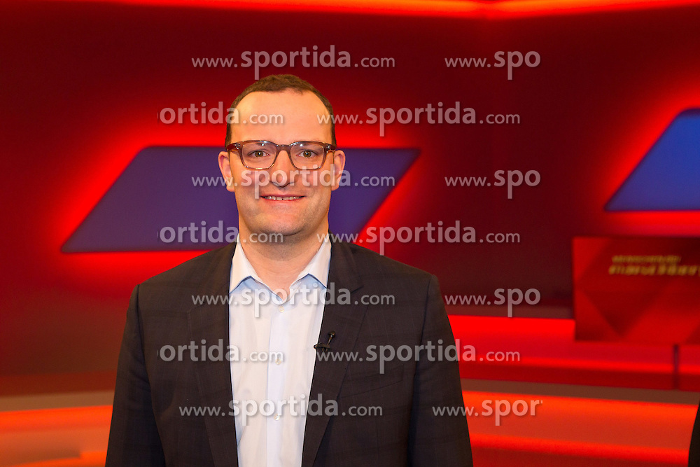 10.03.2015, WDR Studios, Stuttgart, GER, Menschen bei Maischberger, die Vorurteilsfalle gute Muslime boeser Islam, im Bild Jens Spahn (CDU Bundestagsabgeordneter) // during the television broadcast People and Politics on the topic of good Muslims wicked Islam at WDR Studios in Stuttgart, Germany on 2015/03/10. EXPA Pictures &copy; 2015, PhotoCredit: EXPA/ Eibner-Pressefoto/ Schueler<br /> <br /> *****ATTENTION - OUT of GER*****