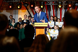 © Licensed to London News Pictures. 17/05/2017. London, UK. Liberal Democrat leader TIM FARRON launches the Liberal Democrat manifesto for the 2017 general election in east London on Wednesday, 17 May 2017. Photo credit: Tolga Akmen/LNP
