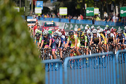 Peloton chase the breakaway at Madrid Challenge by La Vuelta an 87km road race in Madrid, Spain on 11th September 2016.