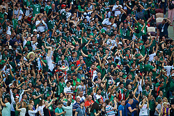 MOSCOW, RUSSIA - Sunday, June 17, 2018: Mexico supporters celebrate after the 1-0 victory over Germany during the FIFA World Cup Russia 2018 Group F match between Germany and Mexico at the Luzhniki Stadium. (Pic by David Rawcliffe/Propaganda)
