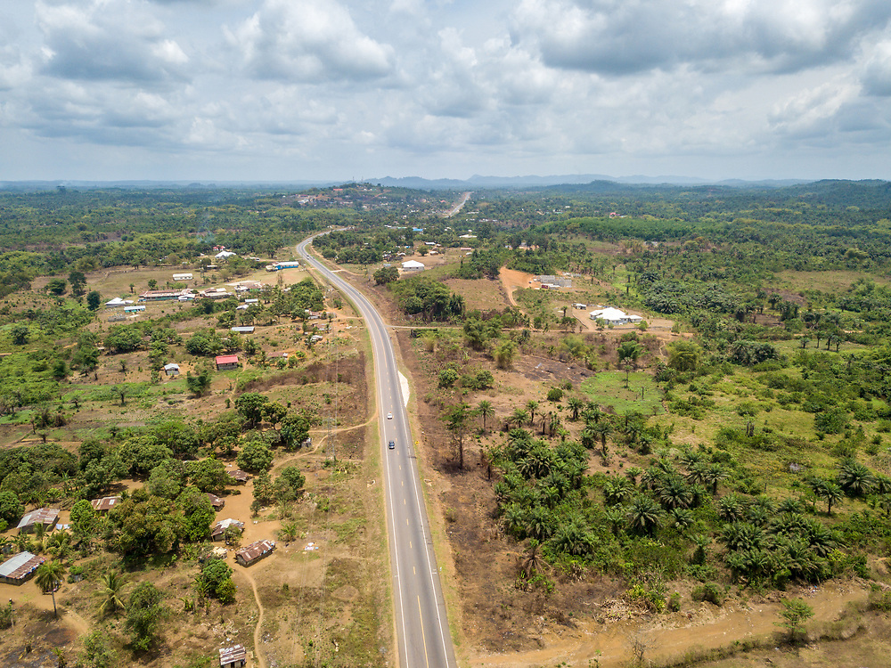 The paved road from monrovia to Ganta, Liberia