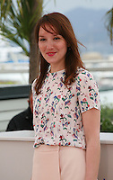 Anaïs Demoustier at the photo call for the film Bird People at the 67th Cannes Film Festival, Monday 19th May 2014, Cannes, France.