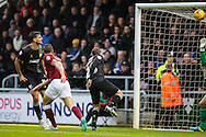 Marc Richards of Northampton Town (2nd left) scores their first goal during the Sky Bet League 2 match at Sixfields Stadium, Northampton<br /> Picture by Andy Kearns/Focus Images Ltd 0781 864 4264<br /> 14/11/2015